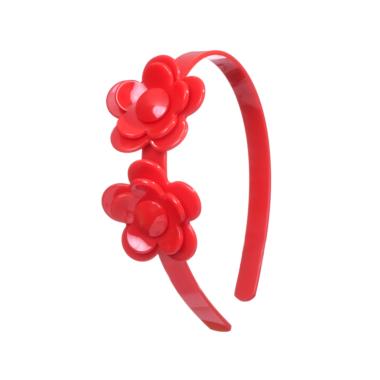Tiara de Acrílico Flor Vermelha
