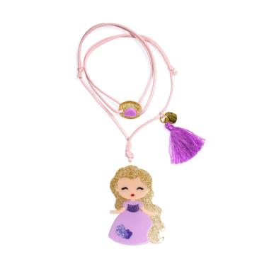 Colar de  Bonequinha Princesa Vestido Lilás