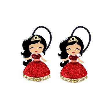 Gominha de Cabelo  Bonequinha Princesa Vestido Vermelho